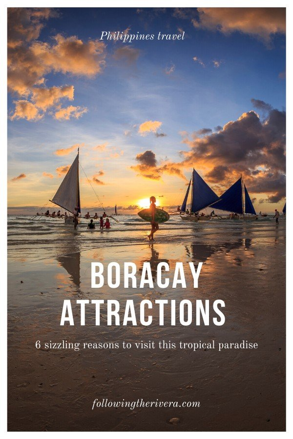 Ships at sunset - Boracay attractions