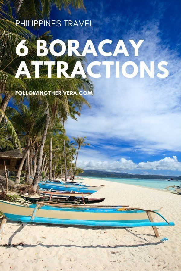 Fishing boats on the beach - Boracay attractions