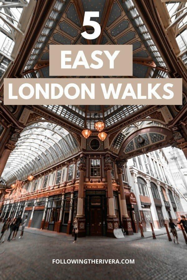 Inside a shopping arcade — London walks