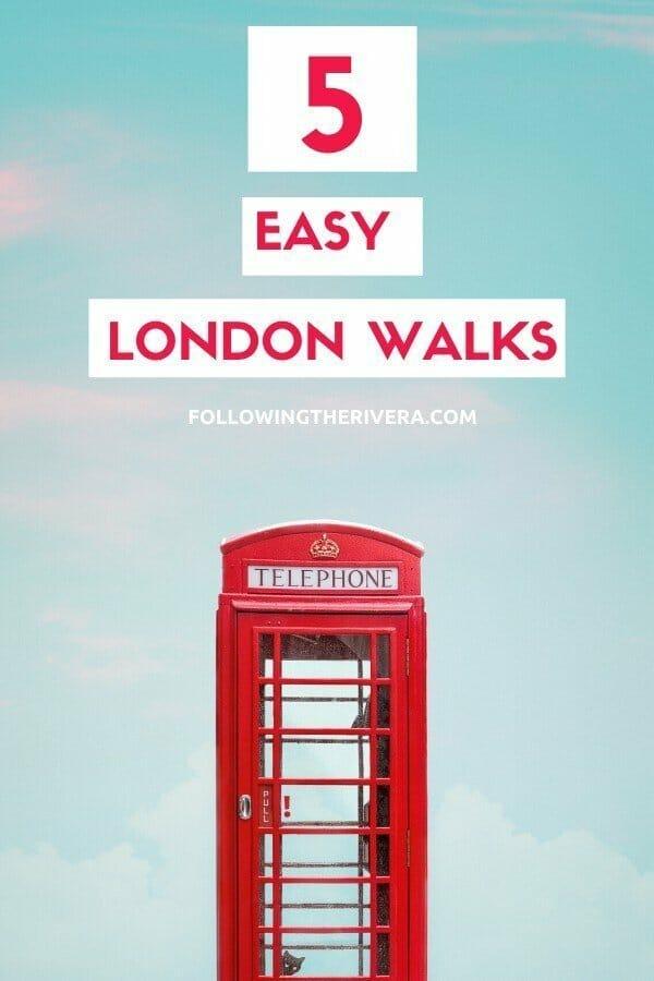 A red telephone box in London — London walks