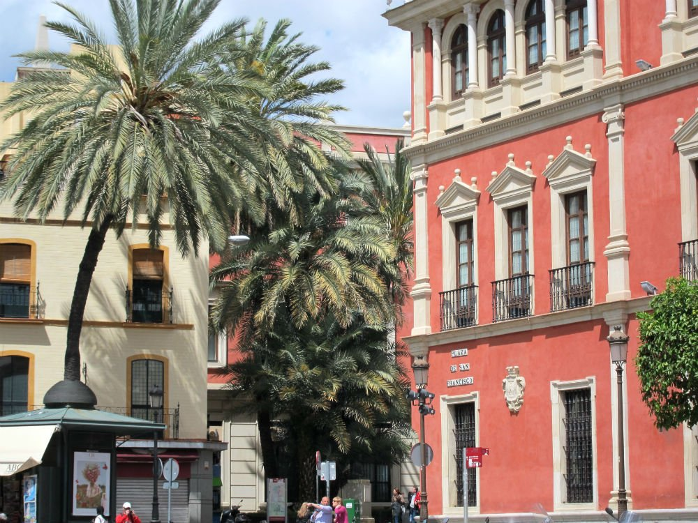 Travel solo and step outside your comfort zone - Sevilla building