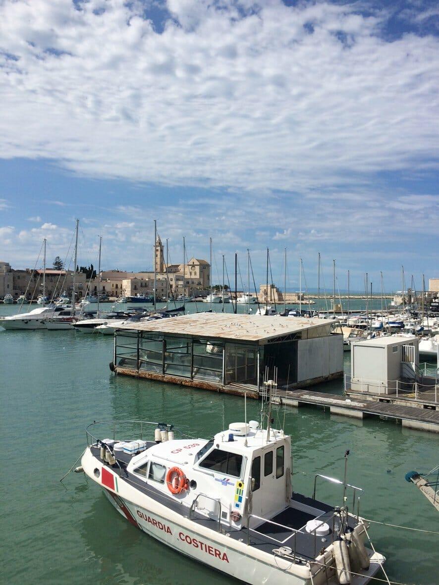 Italy road trip: the seaport at Trani