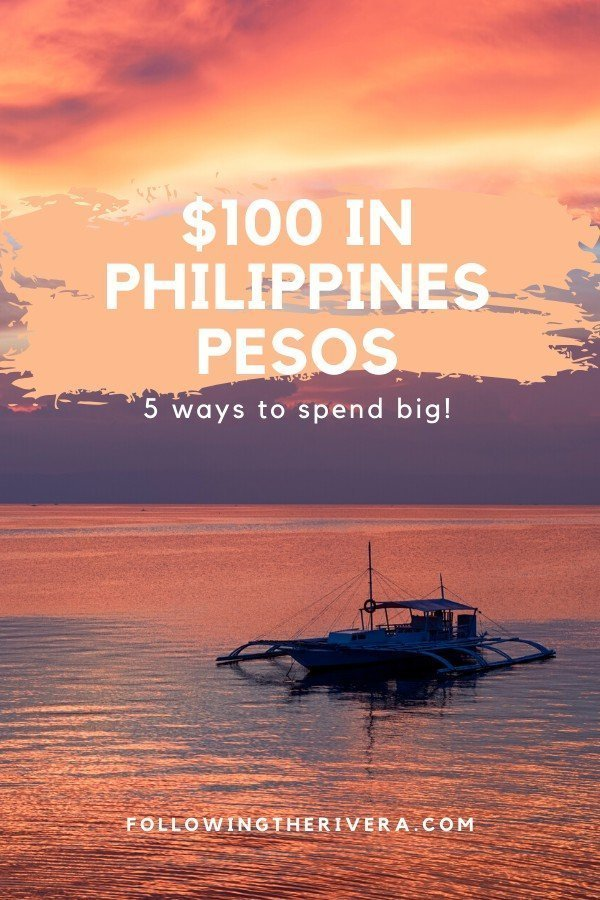 Fishing boat on the sea at sunset - $100 in Philippines pesos