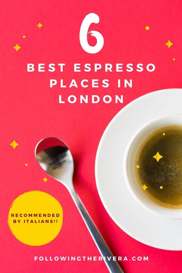 espresso cup on a saucer with a spoon — London espresso