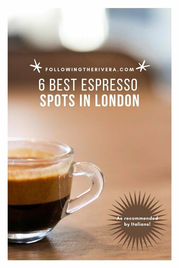 espresso in a cup — London espresso