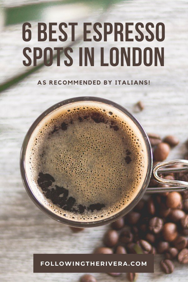 a scup of espresso and coffee beans — London espresso