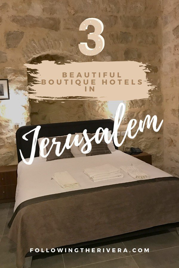 A bed against a brick wall - boutique hotels in Jerusalem