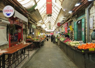 A moment of calm inside the market