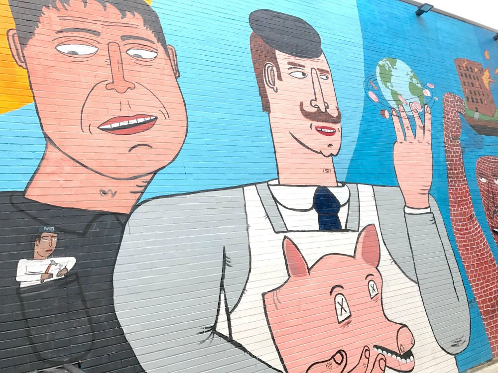 Where to eat in West Randolph Street, Fulton Market District, Chicago - street art