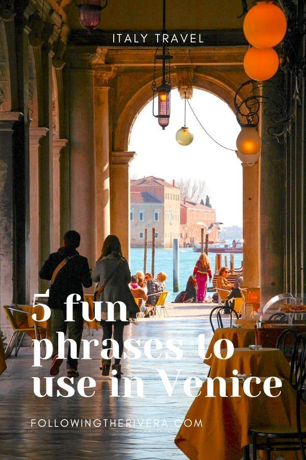 5 Venice useful phrases to use on your travels! 3