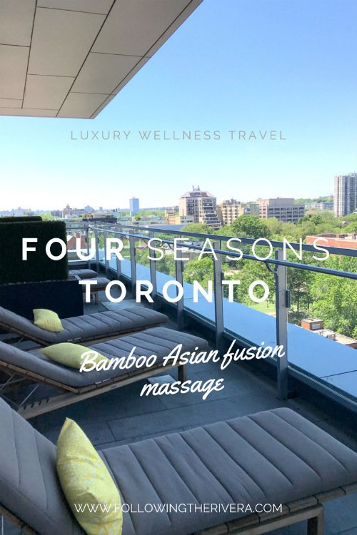 Four Seasons Toronto massage 1