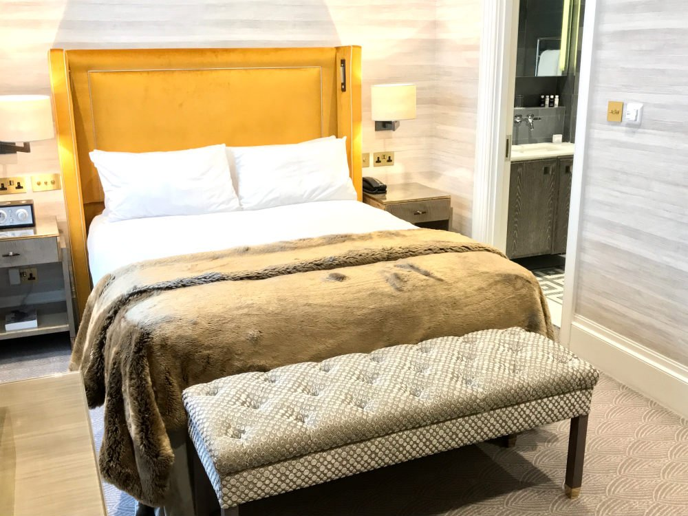 Flemings Mayfair hotel review London - Gold bed