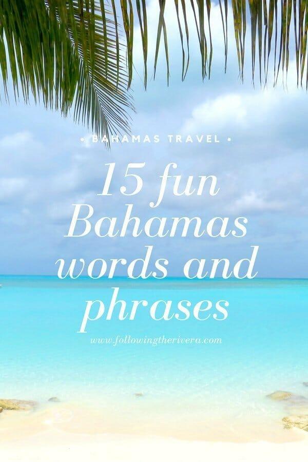 15 fun Bahamas words and phrases 4