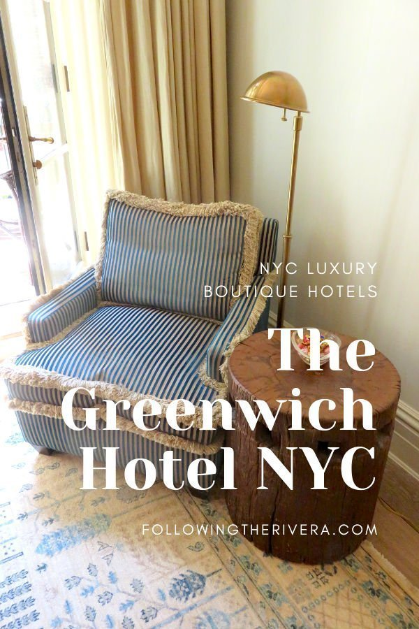 NYC luxury boutique hotels — the Greenwich Hotel NYC 3