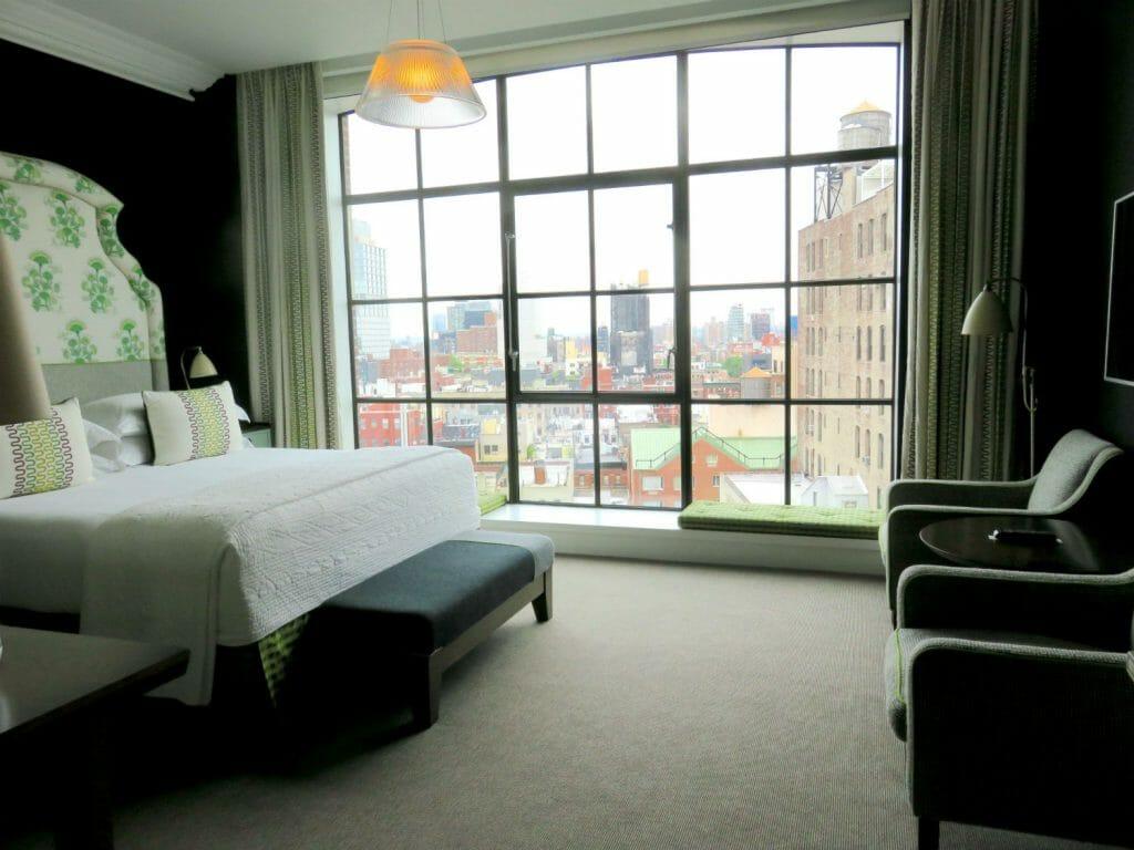 the Crosby Street Hotel - deluxe top floor room