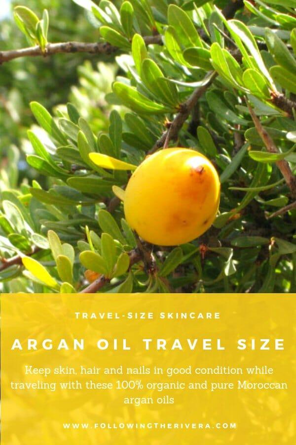 Sweet-smelling argan oils in travel size 1