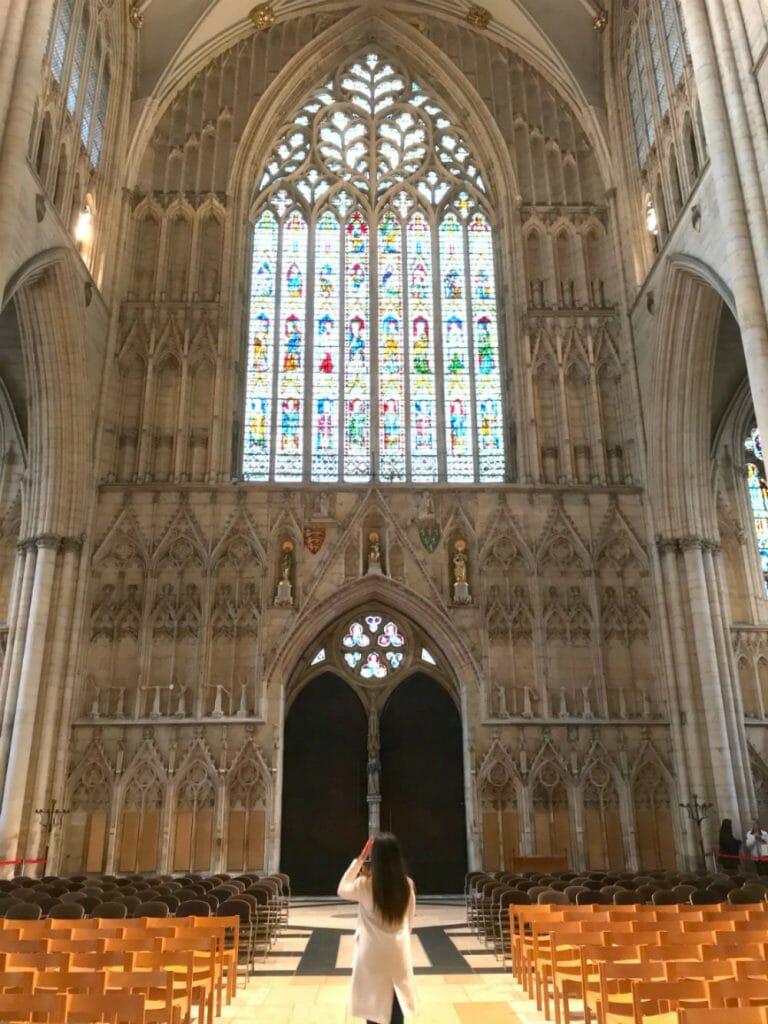 York attractions - Lisa in York Minster