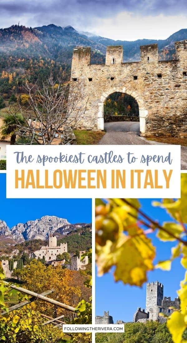 3 historic castles - Halloween in Italy