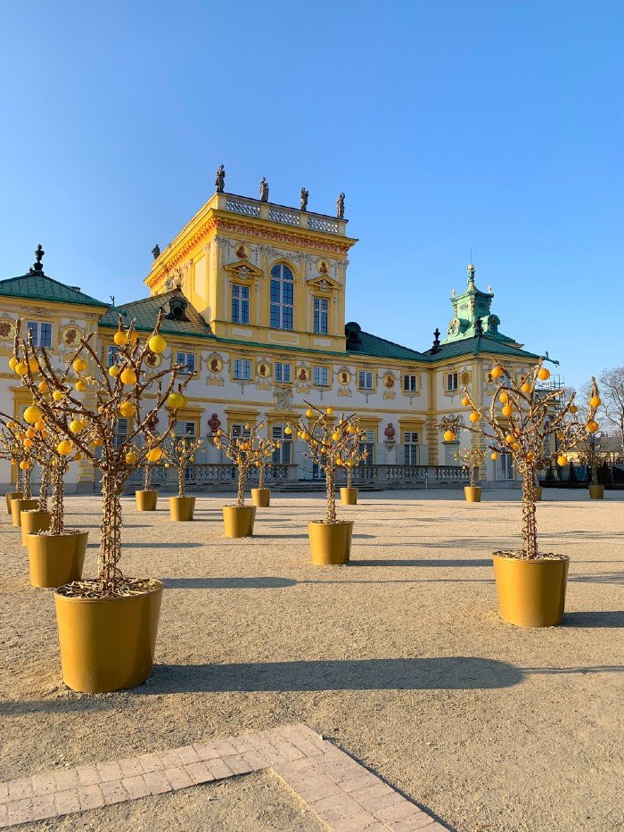 Garden at Wilanów Palace - things to do in Warsaw in winter