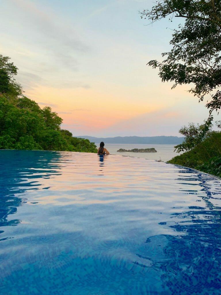 Caramoan resorts - Tugawe Cove Resort - Lisa in pool