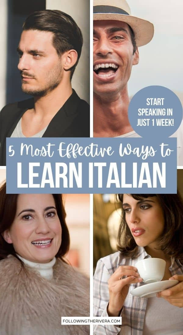 Four photos of Italian people - best way to learn Italian