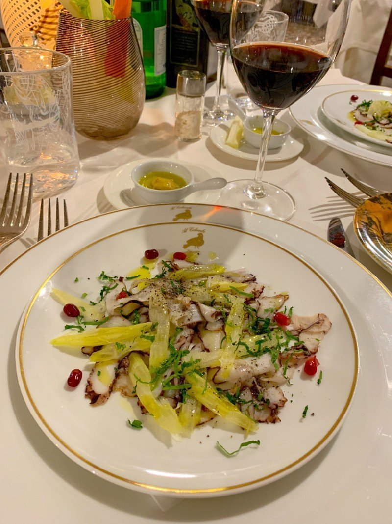 Dinner at La Colombina Venice - Venice in winter