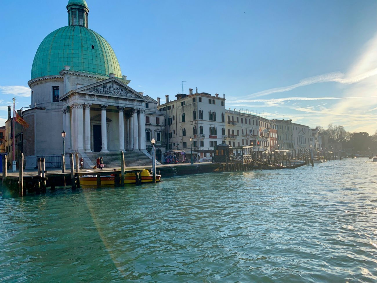 Venice in winter - Grand Canal green dome