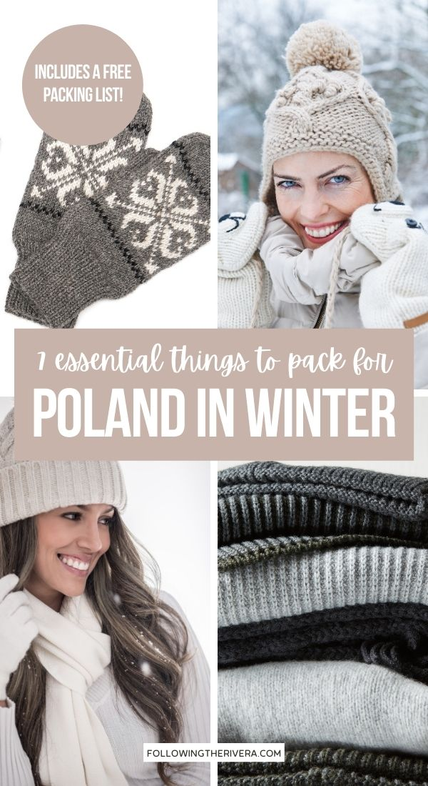 Photos of winter clothing - What to pack for Poland in winter