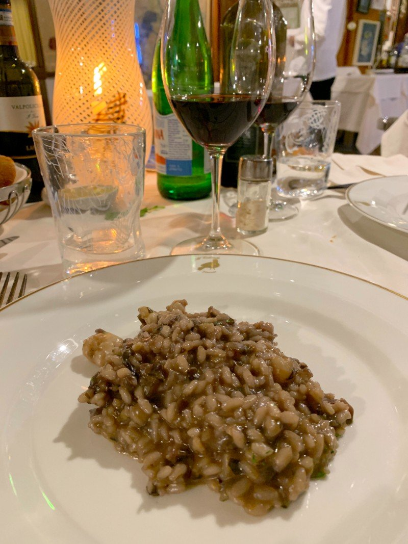Risotto at La Colombina Venice - Venice in winter