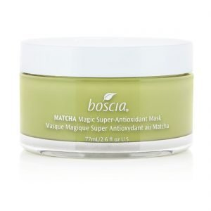 Bakuchiol products to take on your travels - Boscia Matcha Super Antioxidant Mask