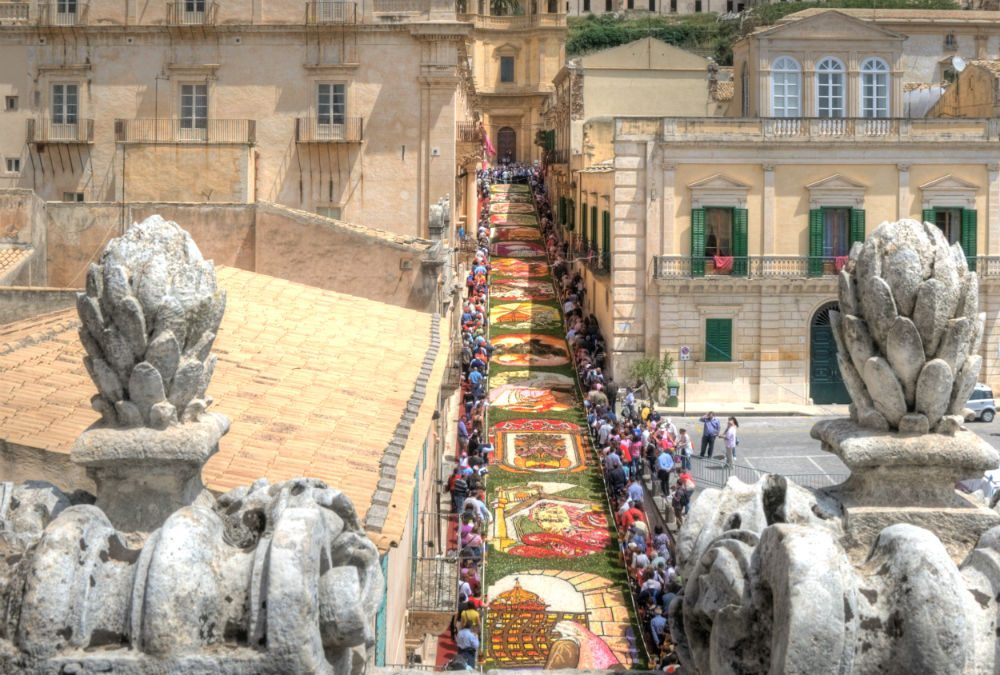 Infiorata di Noto — the annual flower festival in Noto, Sicily