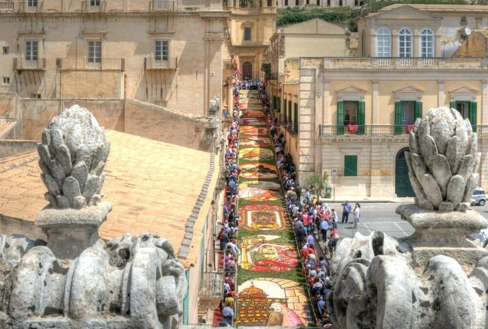 Infiorata di Noto — the annual flower festival in Noto, Sicily