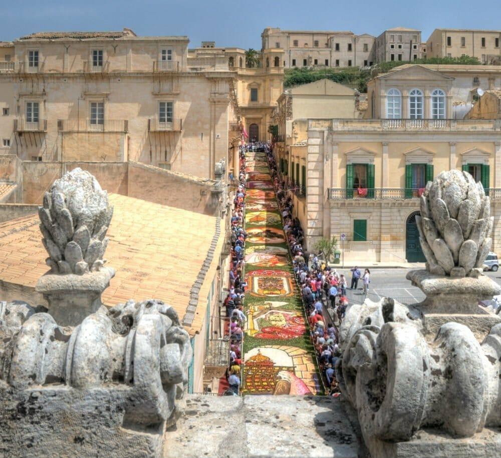 Infiorata di Noto – the annual flower festival in Noto, Sicily