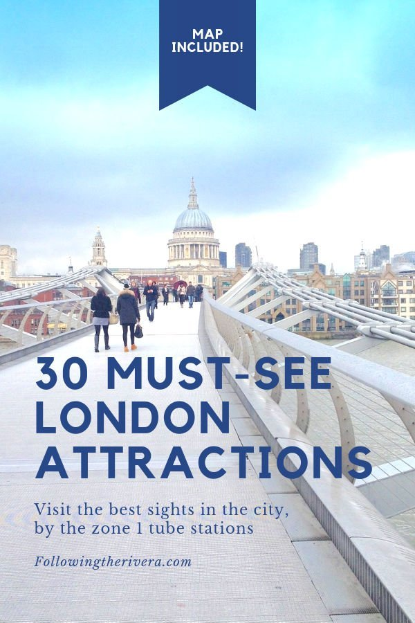London Must See Attractions Map.Must See London Attractions 30 Best Sights By Zone 1 Tube Stations