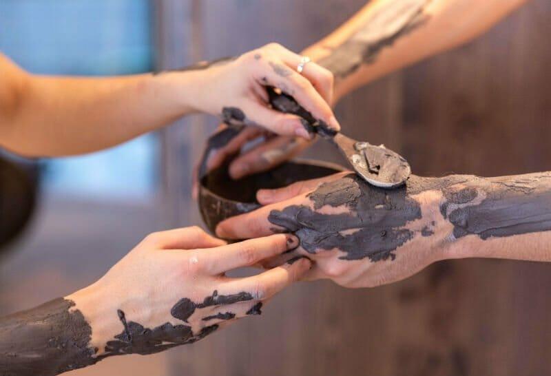 The Spa at Low Wood Bay - applying mud treatment