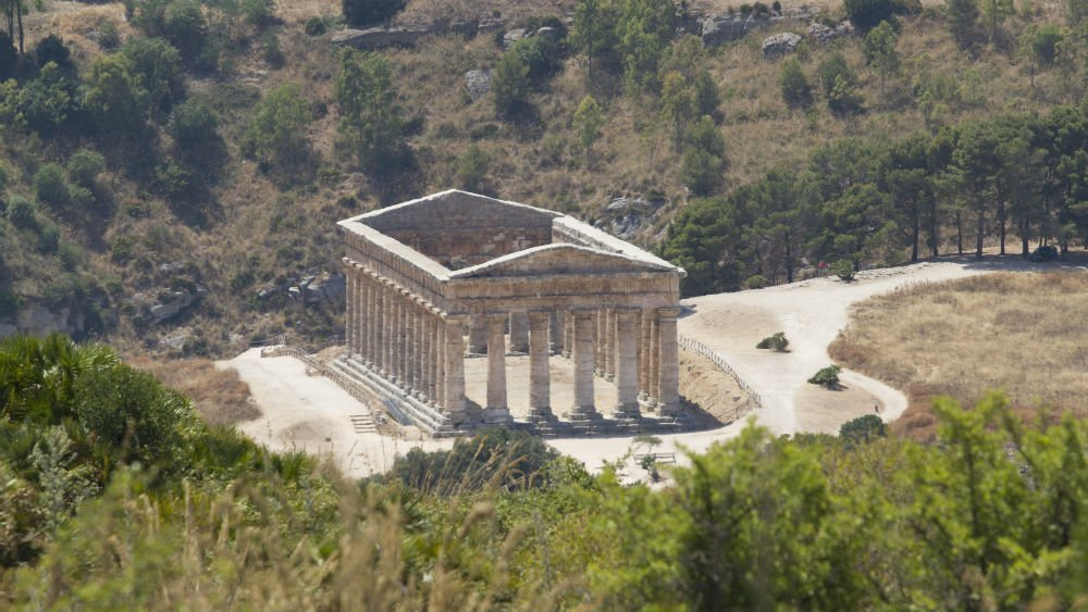 Greek temple of Segesta, Sicily road trip