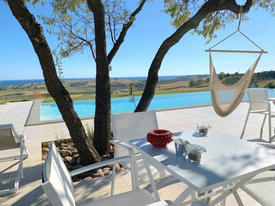 The pool at Torre Bonera Green Resort - Sicily road trip