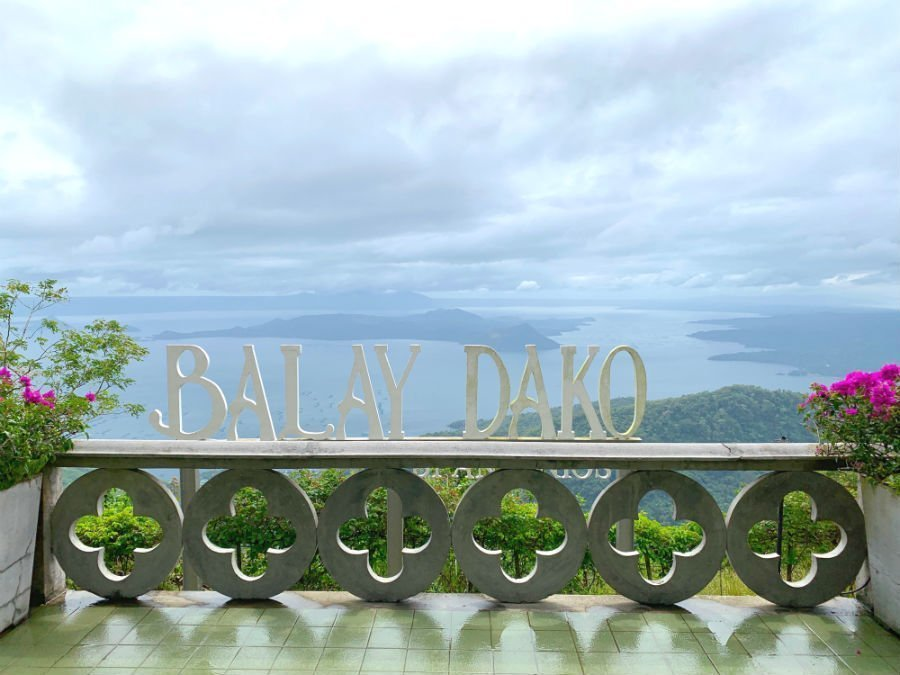View of Taal Volcano from the terrace of Balay Dako - Philippines 2-week itinerary