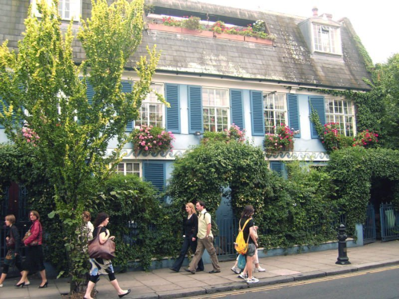 A colorful house in Notting Hill