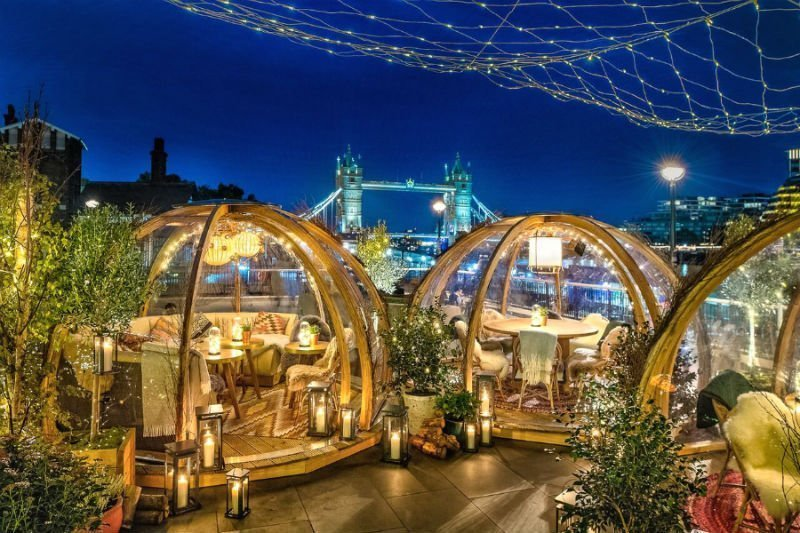 Coppa Club shacks - fun things to do in London couples