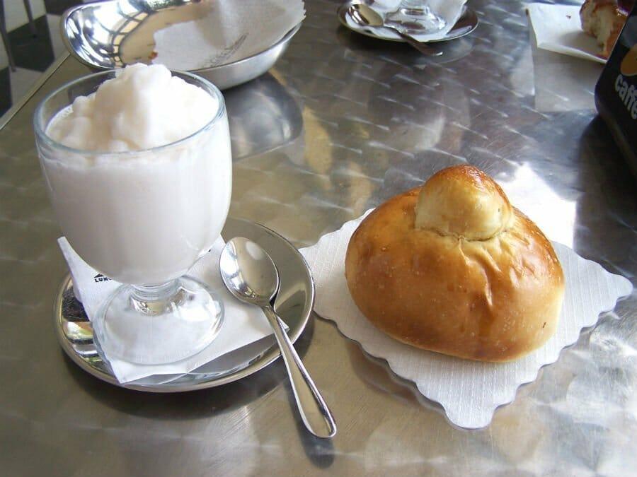 Granita and brioche - best Sicilian desserts