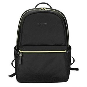 Black laptop backpack from KROSER - gifts for luxury travelers