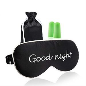 Sleep mask with the words 'good night' on the front - gifts for luxury travelers