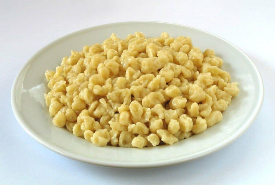 A bowl of pasta called Spätzle - Italian comfort foods