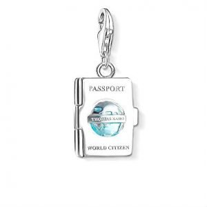 Silver charm in the design of a passport - gifts for luxury traveler