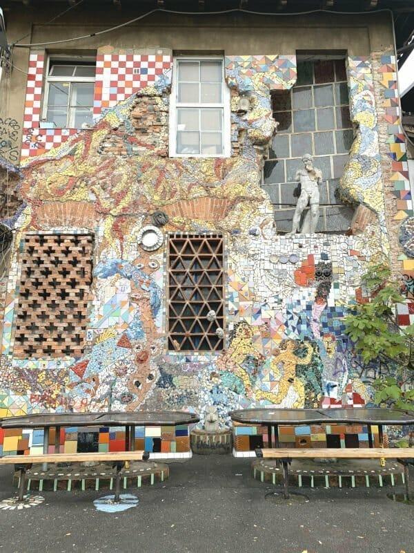 Street art in Metelkova mesto Ljubljana Slovenia
