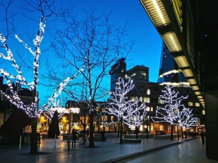 Christmas lights at More London