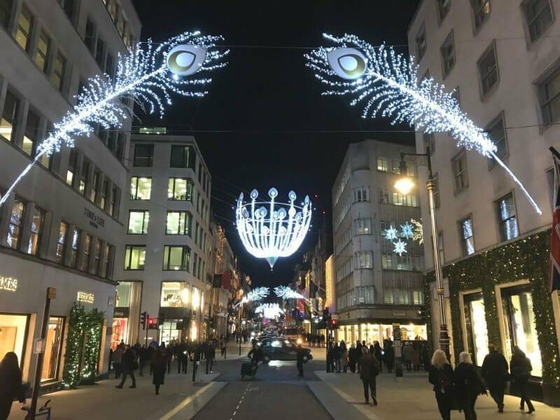 Christmas lights on New Bond Street — London Christmas lights