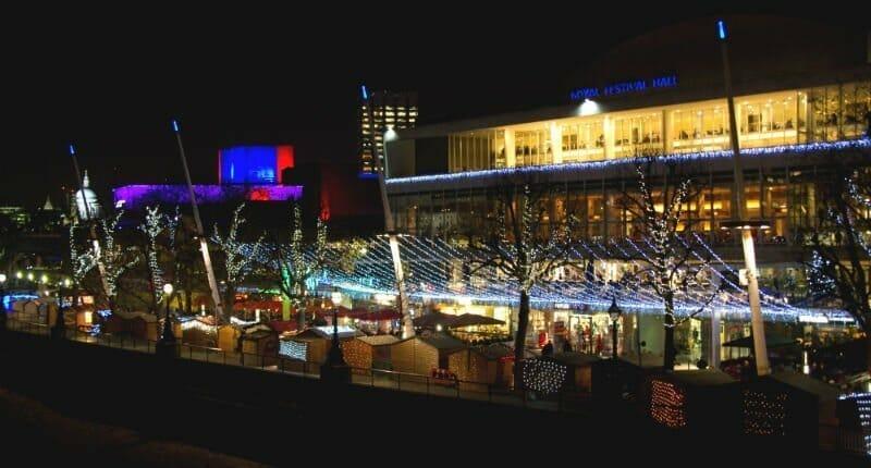 London South Bank at Christmas — London Christmas lights