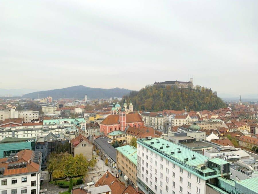 Ljubljana Castle from afar - Where to stay in Ljubljana